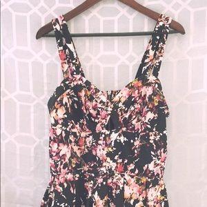 Floral skater dress/romper